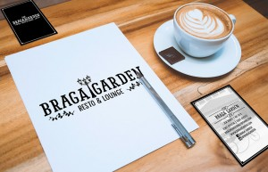 Logo & Business Card design for Braga Garden Resto & Lounge
